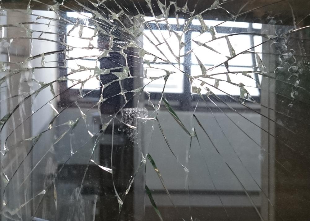 Hiltrups hässliches Gesicht: Vandalismus ist ein ernsthaftes Problem. (Hiltruper Bahnhof 27.8.2016; Foto: Klare)