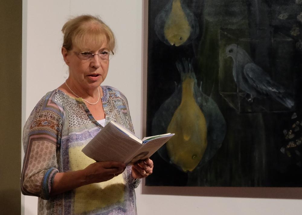 """Heide Michels-Heyne: """"Das Mädchen mit dem Fingerhut"""" (26.8.2016; Foto: Klare)"""