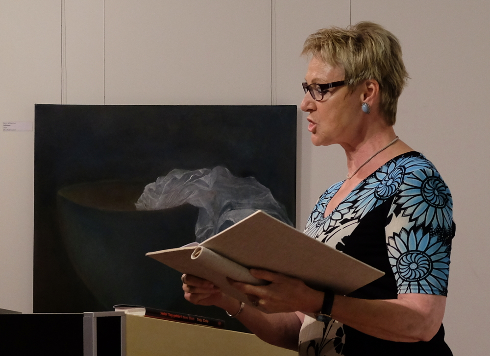 """Karin Honermann: """"Auf der Flucht"""" (26.8.2016; Foto: Klare)"""