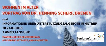 Dr. Henning Scherf referiert zu