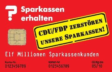 Sparkassen erhalten