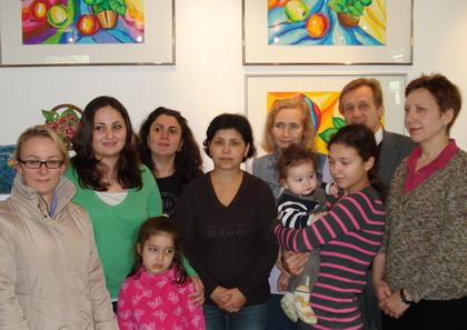 Teilnehmerinnen des werktreffs mit dezernent jochen köhnke 2 v r