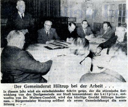 Der Gemeinderat Hiltrup bei der Arbeit (1960)