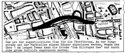 Planung der neuen Kanalbrücke (1976)