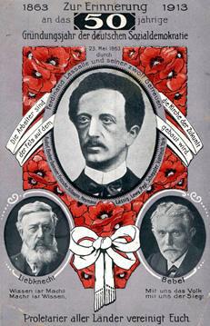 Erinnerungspostkarte 50 Jahre Sozialdemokratie
