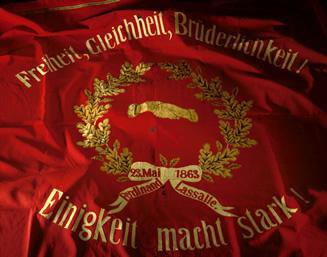 Traditionsfahne der SPD, gefertigt 1873