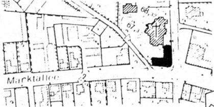 Bebauungsplanentwurf von1982 zur Bebauung des Kirchplatzes St. Clemens