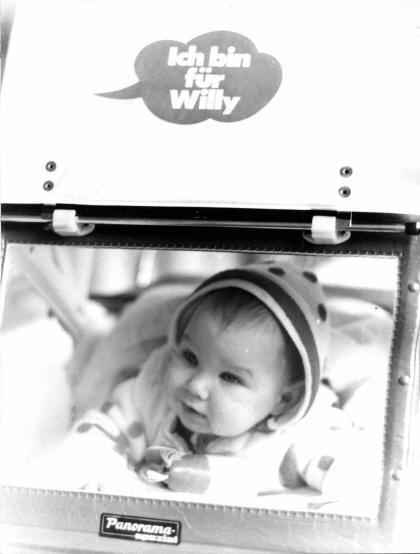 Ich bin für Willy: Wahlwerbung auf dem Kinderwagen (1972)