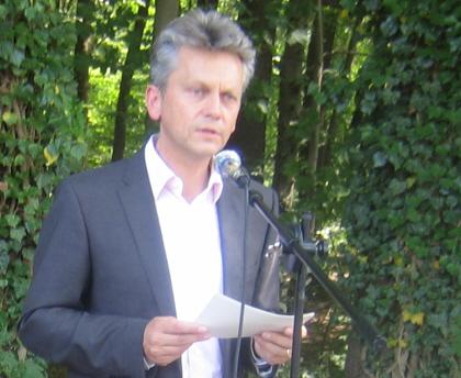 Einweihung des Gedenksteins für die Zwangsarbeiter in Hiltrup: Ansprache von Stadtrat Thomas Paal