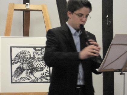 Max Volbers (Flöte) im Gallitzinhaus Angelmodde