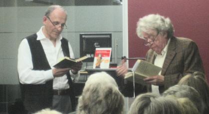 Jedermann und der Mammon (v.l.: Heinz Ludwig Leding und Günter Rohkämper-Hegel)