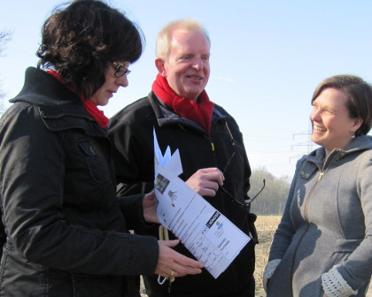 Claudia Westermann-Schulz, Hermann Geusendam-Wode, Julia Suuck (v.l.)